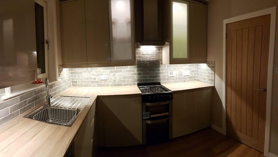 interior kitchen and bathroom